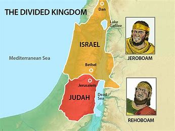 Image result for Israel a divided kingdom