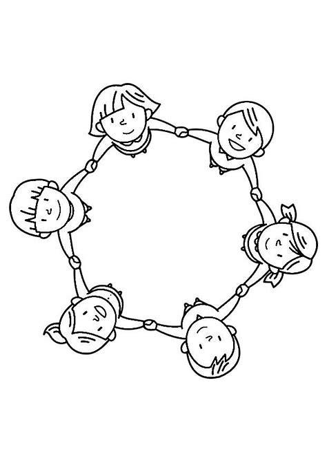 Resultado de imagen de dibujo de un grupo de niños