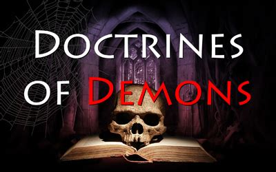 Image result for doctrines of demons