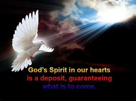 Image result for Holy spirit is our deposit