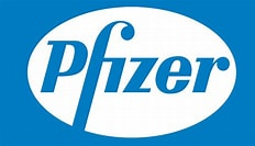 Image result for Pfizer Logo. Size: 232 x 133. Source: 1000logos.net