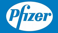 Image result for Pfizer Logo. Size: 236 x 133. Source: 1000logos.net