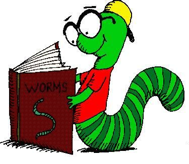 Image result for Bookworm Clip Art Free