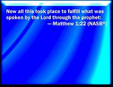 Image result for matthew1:22