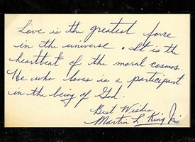 Image result for Hand Written Letter By Martin Luther King Jr. That Sold for 42,000. Size: 220 x 160. Source: www.pinterest.com