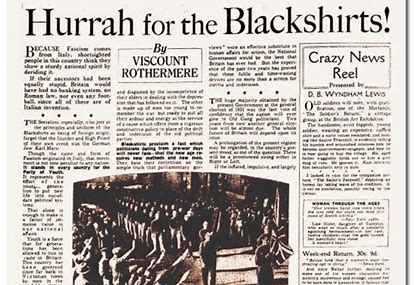 Image result for hurrah for the blackshirts daily mail