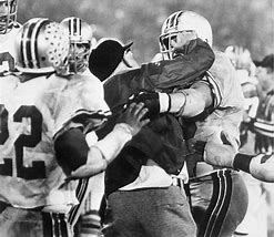 Image result for Woody Hayes punched Clemson University player Charlie Bauman