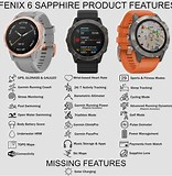 Image result for compare garmin fenix 5 and 6. Size: 156 x 160. Source: anjritayama.blogspot.com