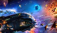 Image result for Space Battle Wallpaper. Size: 188 x 110. Source: wallpapersafari.com