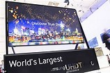 Image result for the biggest TV ever. Size: 158 x 105. Source: www.dailymail.co.uk