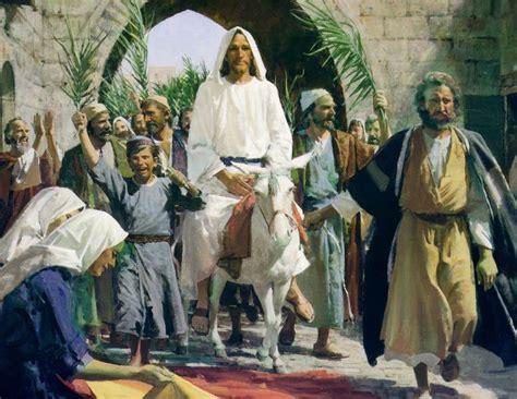 Image result for jesus entering jerusalem palm sunday