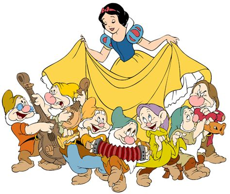 Image result for snow white and the seven dwarfs clip art free