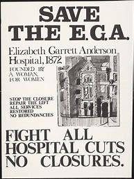 Image result for women protest to save the elizabeth garrett anderson hospital images