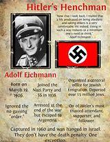 Image result for Adolf Eichmann was hanged