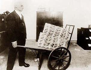 Image result for Weimar Republic Wheelbarrow of Money