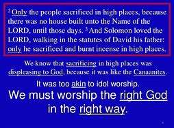 Image result for king solomon repented to the lORD FOR HIS IDOL WORSHIP