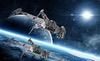 Image result for Space Battle Wallpaper. Size: 144 x 88. Source: wallpapersafari.com