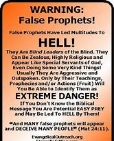 Image result for false teachers of the rapture