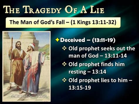 Image result for the old prophet gets the man of God to eat and drink