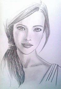 Image result for sketch of a girl