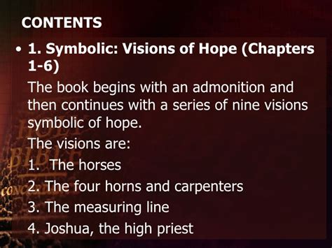 Image result for ZECHARIAH VISION THE FOUR CARPENTERS