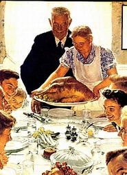 Image result for Images Norman Rockwell Painting Thanksgiving Dinner. Size: 148 x 204. Source: artsandfacts.blogspot.com