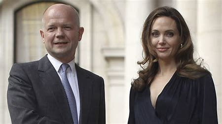 Image result for william hague and angelina jolie images