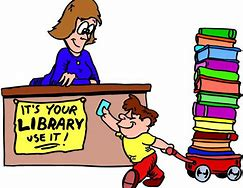 Image result for library cartoon picture