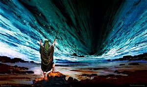 Image result for Moses Parting the Red Sea