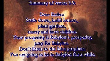 Image result for Jeremiah's letter to the exiles