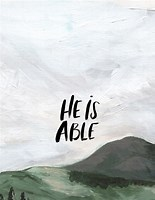 Image result for He is Able Scriptures