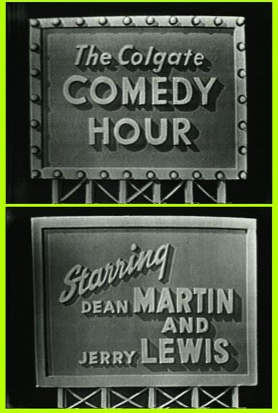 """Image result for """"The Colgate Comedy Hour"""" debuted featuring Dean Martin and Jerry Lewis."""