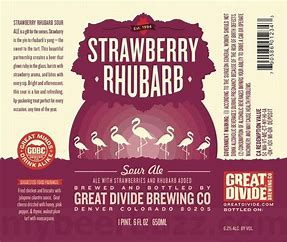 Image result for great divide strawberry rhubarb