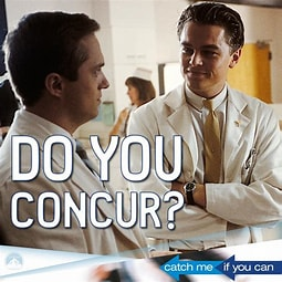 Image result for Images DiCaprio Catch Me If You Can I Concur. Size: 204 x 204. Source: www.scoopnest.com