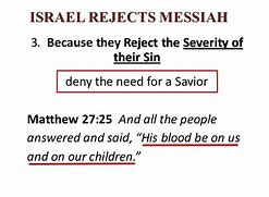Image result for modern israel rejects jesus as the messiah