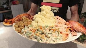 Image result for Thanksgiving heaping plate of food