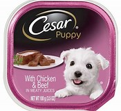 Image result for Cesar's Puppy Food