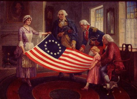 "Image result for 1777 - The Continental Congress in Philadelphia adopted the ""Stars and Stripes"""