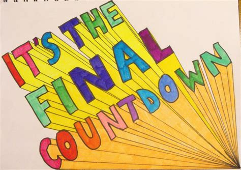 Image result for THE FINAL COUNT DOWN