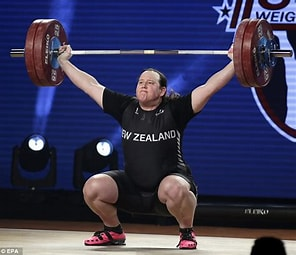 Image result for Images Transgender Weightlifters. Size: 237 x 204. Source: www.dailymail.co.uk