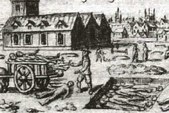 Image result for images of black plague death carts