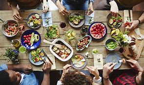 Image result for dining table with food