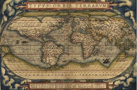 Image result for image world map 16th century