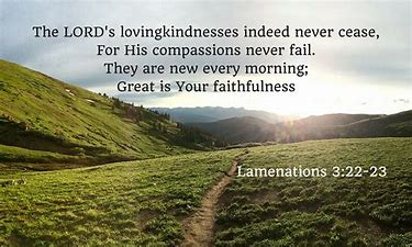 Image result for god's mercies are new every day