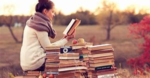 Image result for person reading a book