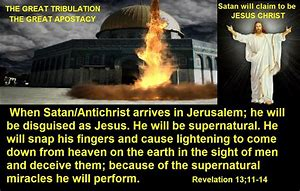 Image result for antichrist calls down fire from heaven