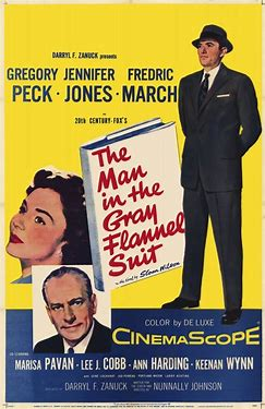 Image result for images poster the man in the gray flannel suit movie