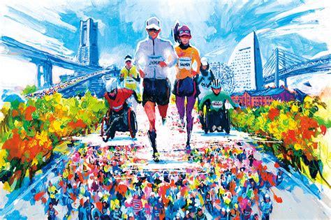 横浜マラソン イラスト に対する画像結果