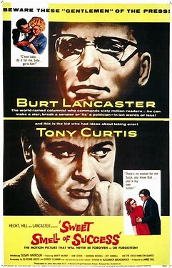 Image result for images movie poster sweet smell of success
