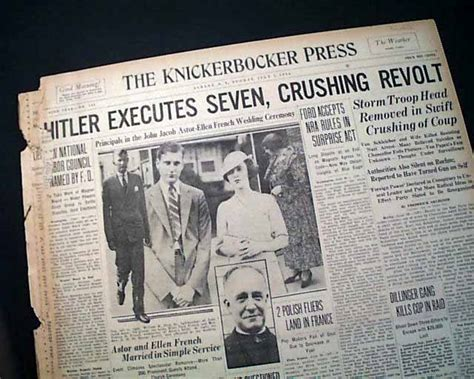"""Image result for Adolf Hitler purged the Nazi Party by destroying the SA and bringing to power the SS in the """"Night of the Long Knives."""""""